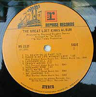 Kinks, The Great Lost Kinks Album Reprise ms 2127
