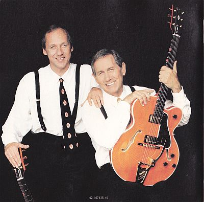 Chet Atkins and Mark Knopfler, Neck and neck Columbia 467435 2