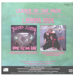 Twisted Sister, Leader Of The Pack / I Wanna Rock Atlantic 789 478-7