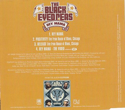 Black Eyed Peas, Hey Mama A&M Records 0602498619759