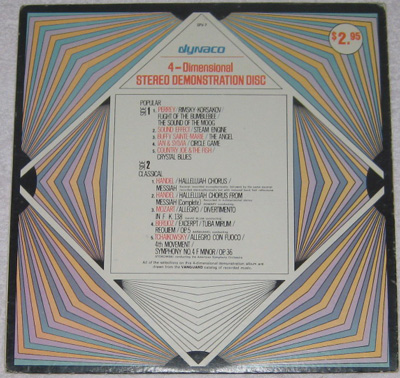 LP, 4-Demensional Stereo Demonstration Disc, 4-Demensional Stereo Demonstration Disc