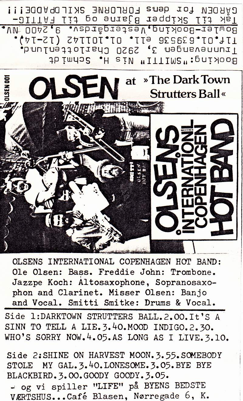 MC, Olsens international Copenhagen Hot band, Olsen at The Dark Town Strutters Ball 0
