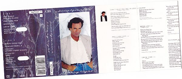 MC, Julio Iglesias, Starry Night 1990