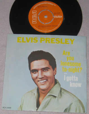7, Elvis Presley, Are You Lonesome Tonight