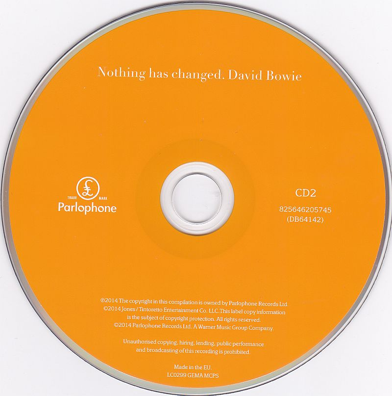 2CD, David Bowie, Nothing has changed - The very best of
