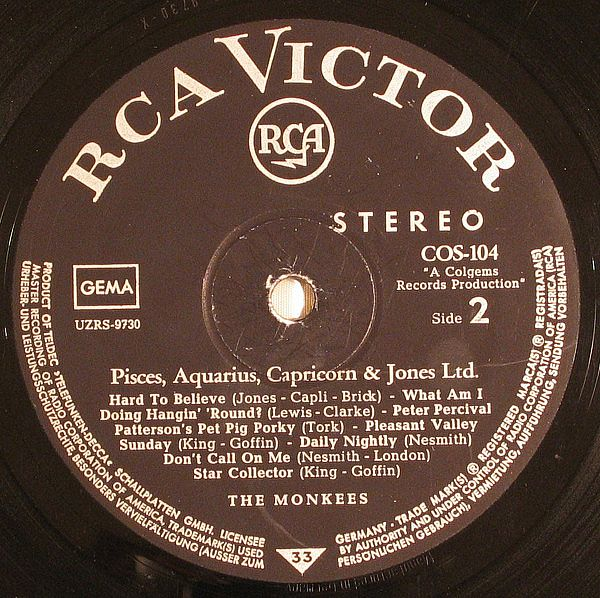 LP, Monkees, Pisces, Aquarius, Capricorn & Jones Ltd.