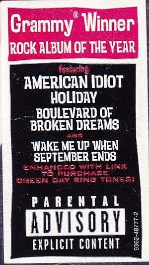 Green Day, American Idiot Reprise Records 9362-48777-2