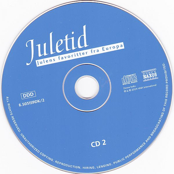 CD, Various artists, Juletid - Julens favoritter fra Europa 2004
