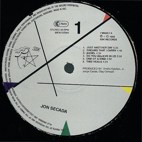 LP, Jon Secada, Do 1992