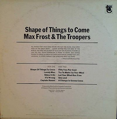 Max Frost And Troopers, Shape Of Things To Come