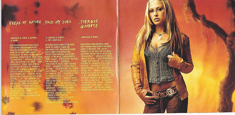 CD, Anastacia, Freak of nature 2001