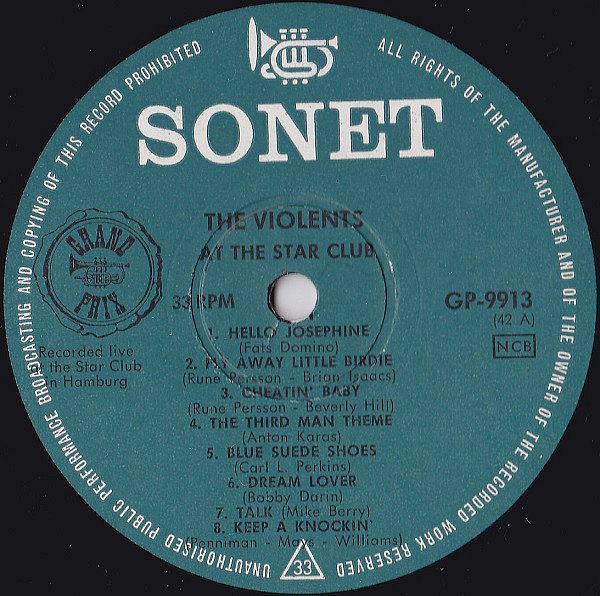 LP, Violents, Live At The Star Club 1967