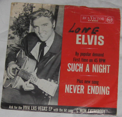 7, Elvis Presley with The Jordanaires, Such A Night