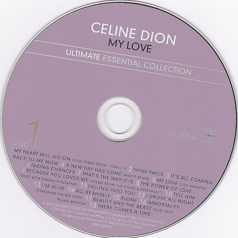 2CD, Celine Dion, My Love - Ultimate essential collection 2008