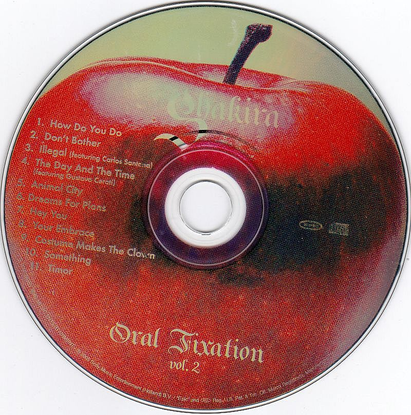CD, Shakira, Oral Fixation vol. 2 2005