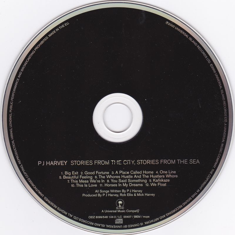 CD, PJ Harvey, Stories from the city, stories from the sea 2000