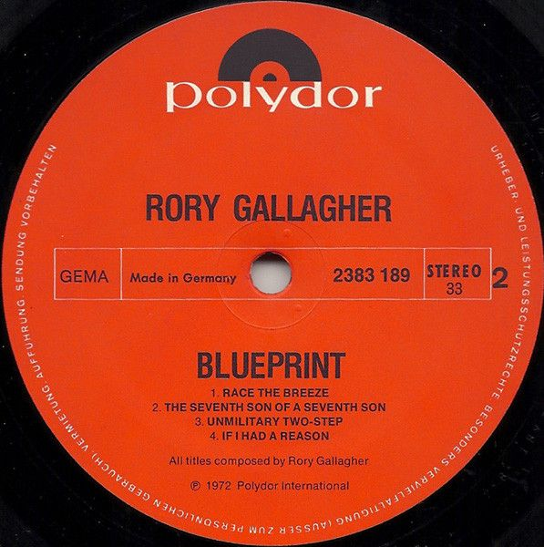 LP, Rory Gallagher, Blueprint 1972