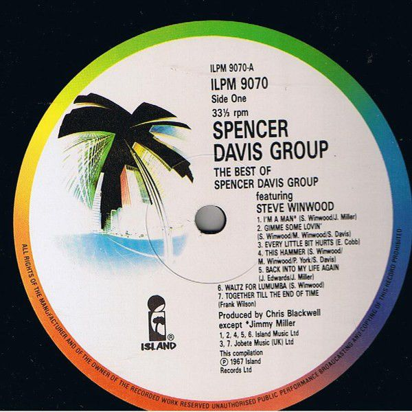 LP, Spencer Davis Group, The Best Of The Spencer Davis Group Featuring Stevie Winwood 1986