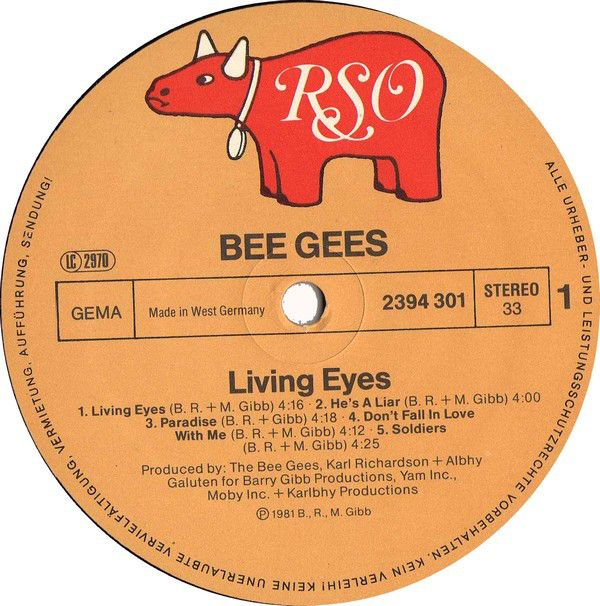 LP, Bee Gees, Living Eyes 1981