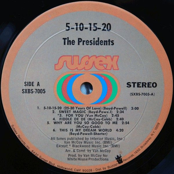 LP, Presidents, The, 5-10-15-20-25-30 Years Of Love 1971