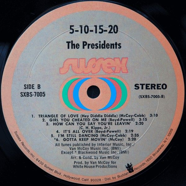 LP, Presidents, The, 5-10-15-20-25-30 Years Of Love