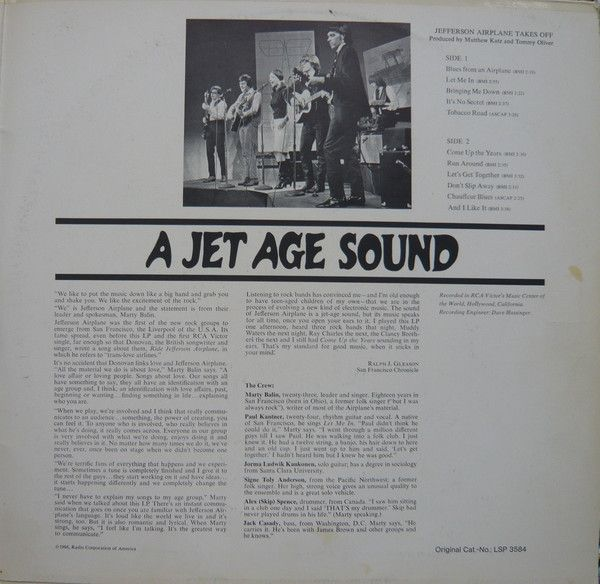 LP, Jefferson Airplane, Bless Its Pointed Little Head / Takes Off