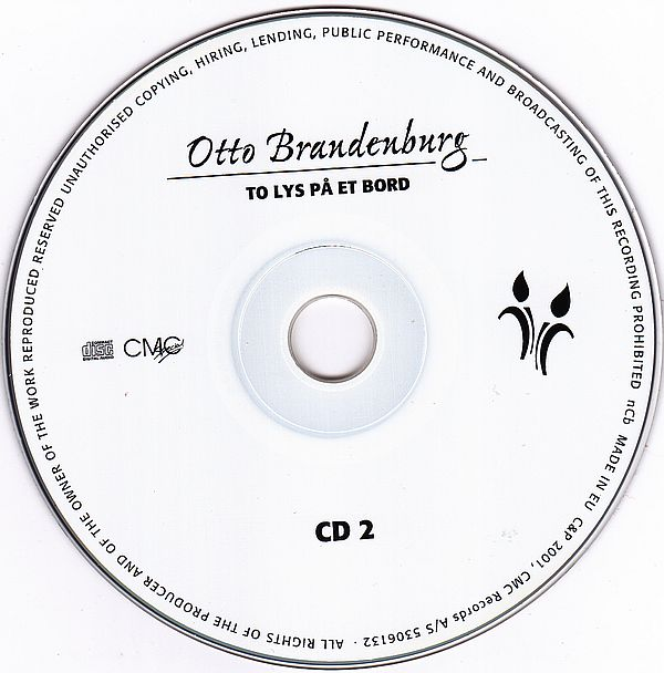 CD, Otto Brandenburg, To Lys På Et Bord 50 Uforglemmelige Hits 2001