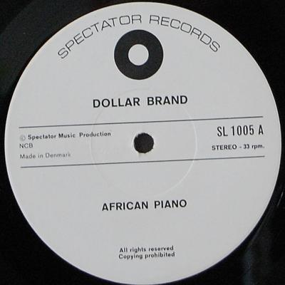 Dollar Brand, African Piano
